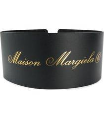 mm6 maison margiela cinto corset - preto
