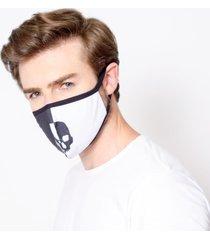máscara lavável tripla camada com feltro caveira duble emporio alex malha tnt multicolorido