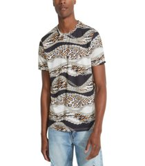 guess men's animal prints t-shirt