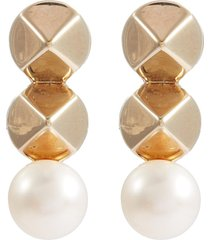 'haumea' stud pearl earrings