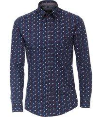 casa moda casual shirt navy bladprint