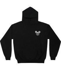 mischief hooded fleece sweatshirt balck