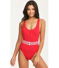 seafolly belted tank one-piece swimsuit