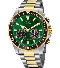 reloj actual verde jaguar