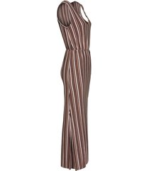 abito lungo a righe glitterate (marrone) - bodyflirt