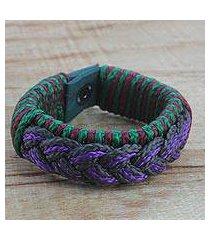 men's wristband bracelet, 'savant' (ghana)