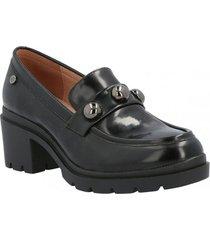 zapato de vestir  cuero mujer libor negro hush puppies