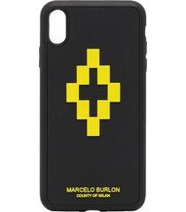 marcelo burlon county of milan 3d cross iphone xs max css case - black