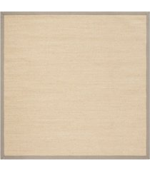 safavieh natural fiber maize and gray 6' x 6' sisal weave square rug