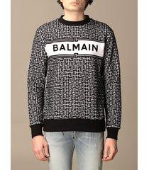 balmain sweater balmain crewneck sweater in with all-over monogram