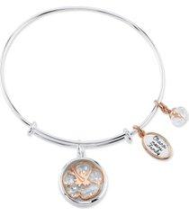 disney two-tone lilo and stitch shaker bangle bracelet