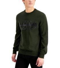 ax armani exchange raised textured logo cotton pullover sweater