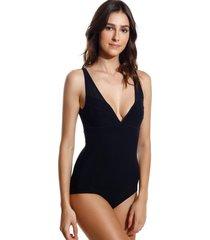 body le lis blanc recortes ana underwear preto feminino (preto, gg)