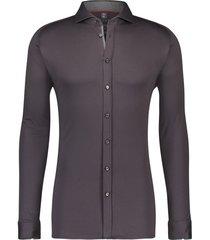 desoto grijs overhemd effen katoen