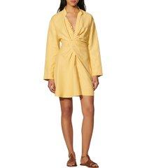 women's sandro amaria long sleeve dress, size 4 us - yellow