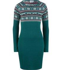 abito in maglia jacquard (verde) - bpc bonprix collection