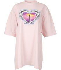 pink dolphins heart logo t-shirt