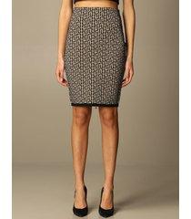 balmain skirt balmain pencil skirt with all-over monogram