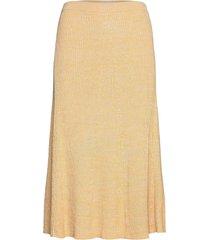 bonnie skirt 12933 knälång kjol gul samsøe samsøe