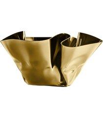 cachepot fiori inox revestido em ouro 24k – riva