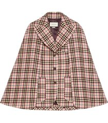 gucci convertible houndstooth cape - pink