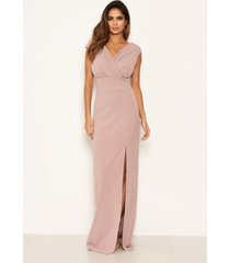 ax paris women's wrap v-neck slit maxi dress