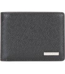 boss textured wallet - black