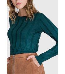 sweater ash verde - calce ajustado