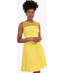 vestido encaje loly amarillo night concept
