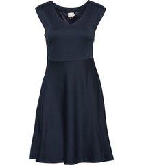kaamaya dress above knee kort klänning blå kaffe