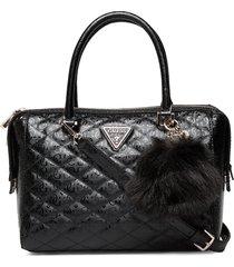 astrid box satchel bags top handle bags zwart guess