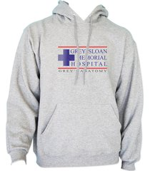 grey sloan memorial hospital greys anatomy unisex hoodie s-3xl heather grey