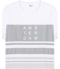 camiseta bloques amsterdam color blanco, talla l