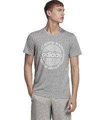 camiseta gris adidas m crcld grfx t