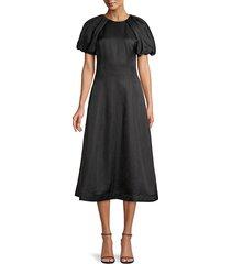 rebecca vallance women's aimee midi dress - black - size 4