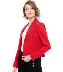 blazer io rojo - calce regular