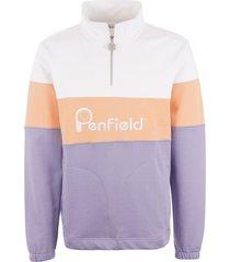 penfield gravas half zip sweatshirt - persian violet pfm312511119074