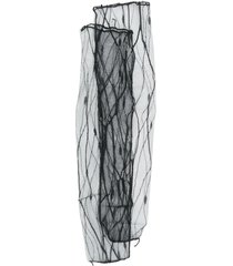 maison close mesh mid-calf socks - black