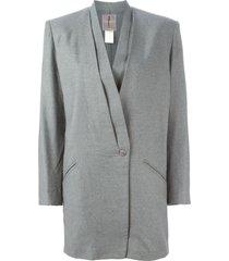 issey miyake pre-owned draped blazer - grey