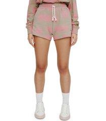 eleven paris cotton geometric-print shorts