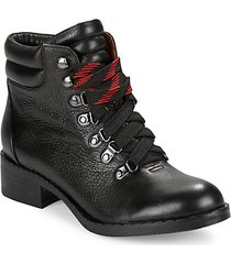 leather mid top boots