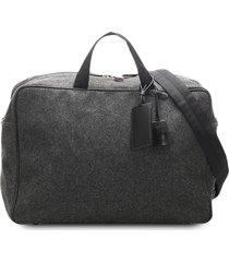 prada pre-owned woven travel bag - grey