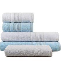 jogo de toalhas de banho 5 peças fio penteado appel splendore aurora branca