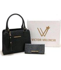 kit bolsa versalhes com carteira victor valencia feminino