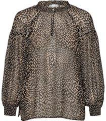 real ls blouse blus långärmad multi/mönstrad second female