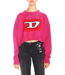 diesel sweater diesel m-linda oversized crew neck sweater with maxi logo