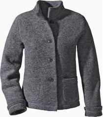 korte jas uit walkstof met bio-katoen, antraciet 40/42