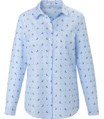 blouse van 100% katoen van peter hahn multicolour