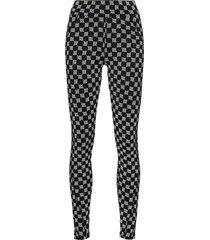misbhv reflective monogram leggings - black
