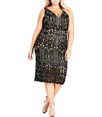 plus size women's city chic all class lace sheath dress